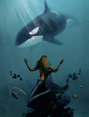 Orca Mixed Media - The Gathering  by James Deaton