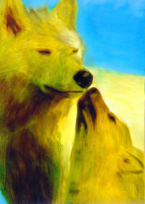 Art Print featuring the painting The Gathering by FeatherStone Studio Julie A Miller