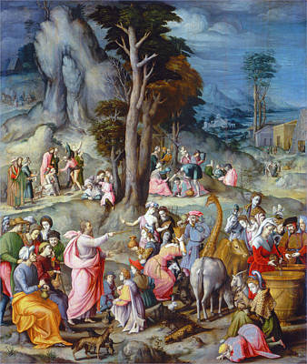 Painting - The Gathering Of Manna by Bacchiacca