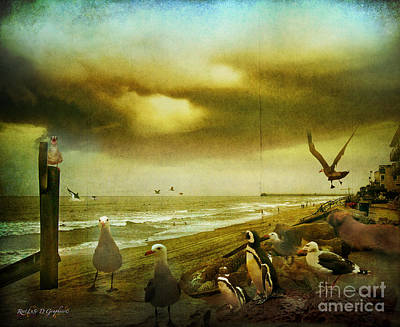Orca Digital Art - The Gathering by Rhonda Strickland
