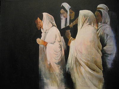 Painting - The Gathering by Victoria Heryet