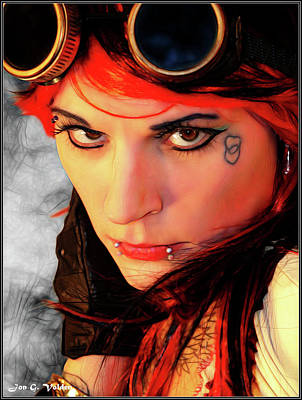 Photograph - The Gaze Of Steam Punk Vixen by Jon Volden
