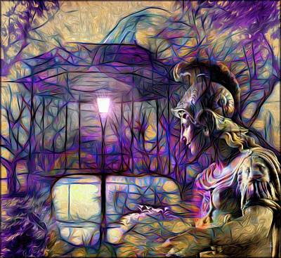 Modernity Digital Art - The Gazebo And Athena  by Daniel Arrhakis