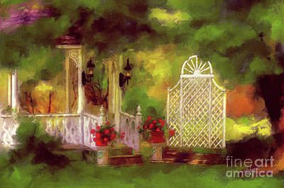 Digital Art - The Gazebo In Summer by Lois Bryan
