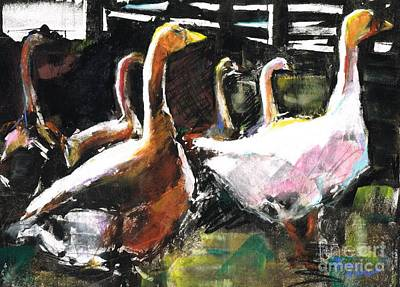 Painting - The Geese  by Frances Marino