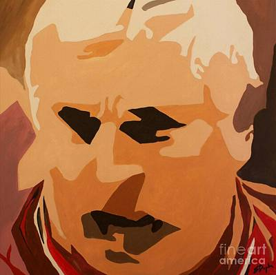 Basketball Abstract Painting - The General- Bobby Knight by Steven Dopka