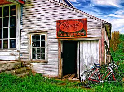 Rural Decay Digital Art - The General Store Painted by Steve Harrington