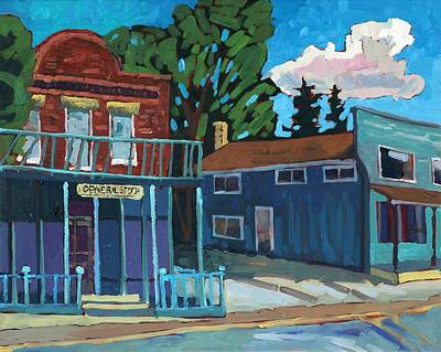 Painting - The General Store by Phil Chadwick
