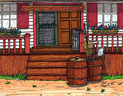 The General Store Art Print by Ross Powell