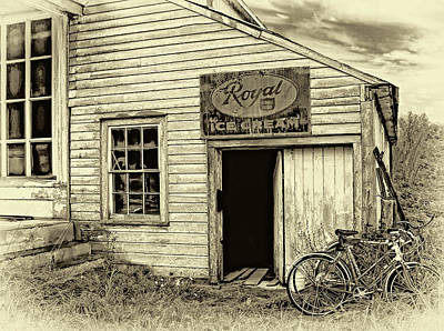 Photograph - The General Store - Sepia by Steve Harrington