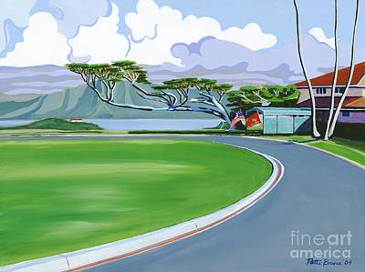 Driveway Painting - The Generals House by Patti Bruce - Printscapes