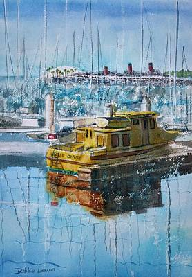 Painting - The Gentle Giant At Rainbow Harbor by Debbie Lewis