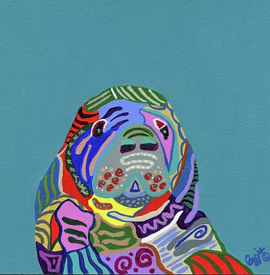 Painting - The Gentle Sea Cow by Stephanie Agliano