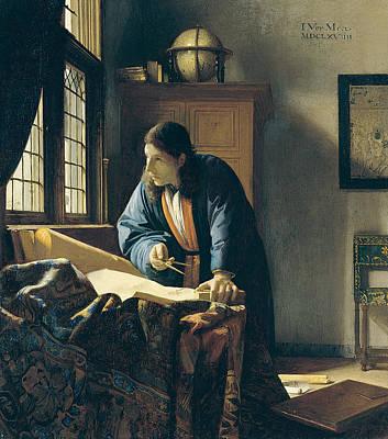 Painting - The Geographer by Jan Vermeer