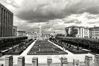 The Geometric Garden In Black And White Art Print