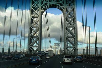 The George Washington Bridge  Art Print by Paul SEQUENCE Ferguson             sequence dot net