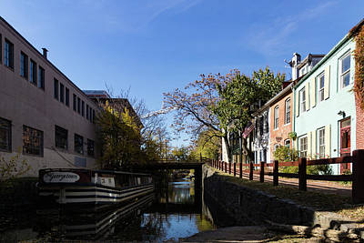 Photograph - The Georgetown - An Old Boat On Historic Chesapeake And Ohio Canal In Washington Dc by Georgia Mizuleva