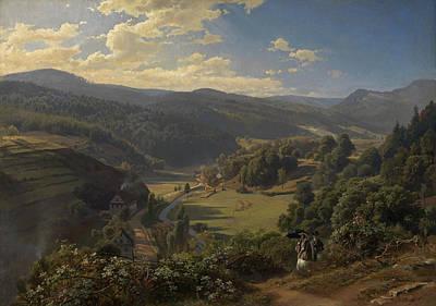 Johann Wilhelm Schirmer Painting - The Geroldsau Valley Near Baden-baden by Johann Wilhelm Schirmer