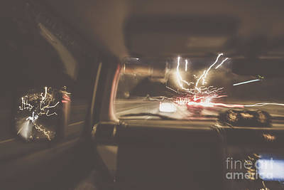 Car Chase Photograph - The Getaway Car Chase by Jorgo Photography - Wall Art Gallery