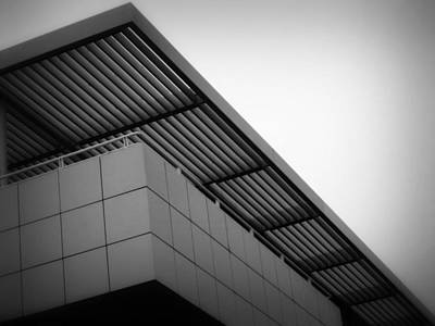 Photograph - The Getty Angular Architecture by Nadalyn Larsen