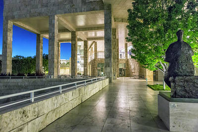 Photograph - The Getty Center At Dusk by Belinda Greb