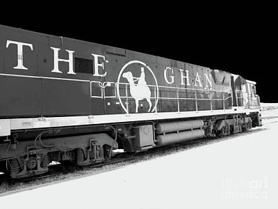 Photograph - The Ghan Bw by Tim Richards