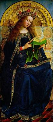 Jan Painting - The Ghent Altarpiece The Virgin Mary by Jan and Hubert Van Eyck