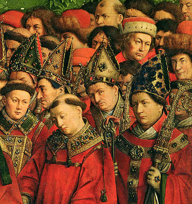 Altar Art Painting - The Ghent Altarpiece by Van Eyck