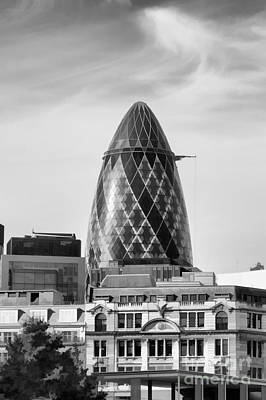 Photograph - The Gherkin by Diane Macdonald
