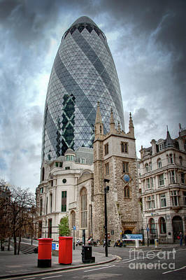 Photograph - The Gherkin by Donald Davis
