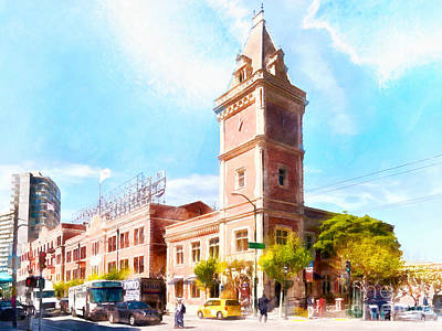 Photograph - The Ghirardelli Chocolate Factory Clock Tower San Francisco California Dsc3245wcstyle by San Francisco Art and Photography