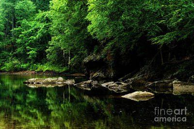 The Ghost Hole Williams River Art Print by Thomas R Fletcher