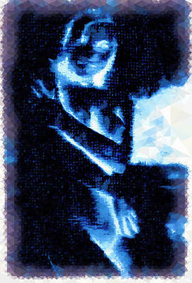 Digital Art - The Ghost Of The Blue Nude by Mario Carini