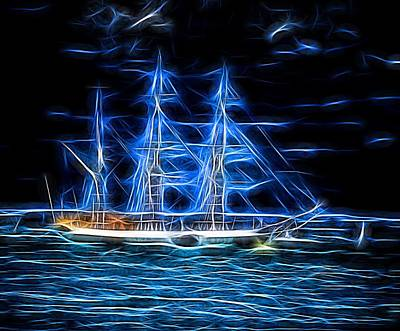 Crew Digital Art - The Ghost Ship by Martin Wall