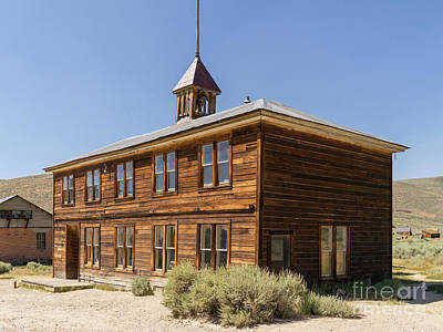 Photograph - The Ghost Town Of Bodie California School House Dsc4457 by Wingsdomain Art and Photography