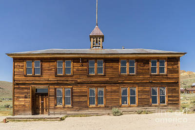 Photograph - The Ghost Town Of Bodie California School House Dsc4461 by Wingsdomain Art and Photography