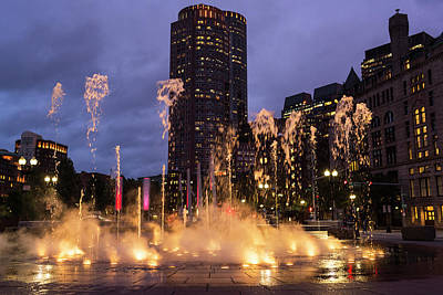 Photograph - The Ghosts Of The Boston Greenway Fountain Boston Ma by Toby McGuire