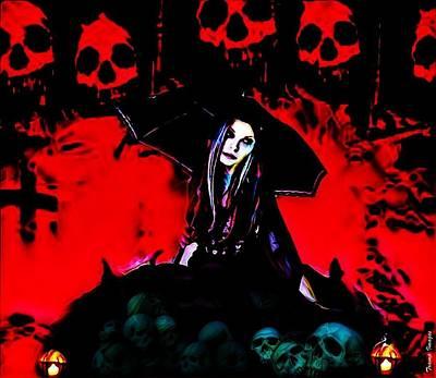 Digital Art - The Ghoul Queen  by Wesley Nesbitt