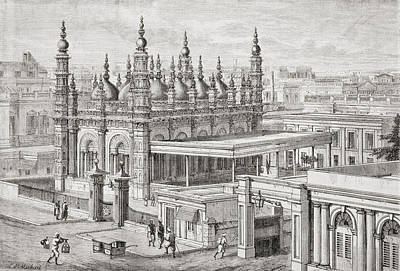 Muhammed Drawing - The Ghulam Muhammed Mosque In by Vintage Design Pics