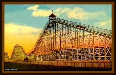 Roller Coaster Mixed Media - The Giant Roller Coaster, Brighton Beach, Brooklyn N Y, 1916 by Dwight GOSS