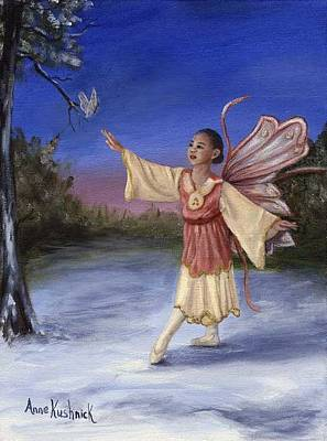 Fairy Painting - The Gift by Anne Kushnick