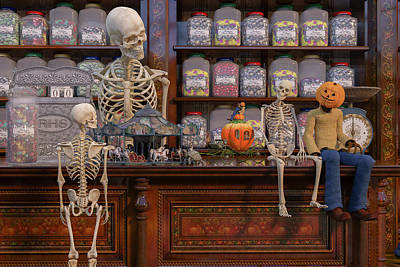 Human Skeleton Digital Art - The Gift Shop by Betsy Knapp
