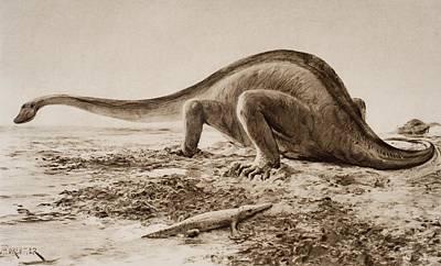 The Giganotosaurus, Disinterred From Art Print