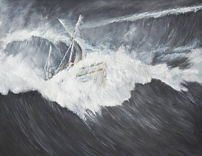 Ship Wreck Painting - The Gigantic Wave by Vincent Alexander Booth