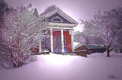 Photograph - The Gilbert Davis Library In Reading Vermont by Nancy Griswold