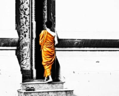 Photograph - The Gilded Monk by Cameron Wood