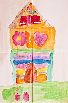 Painting - The Gingerbread Cottage Through Children's Eyes by Pedro Cardona Llambias