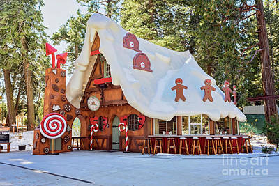 Art Print featuring the photograph The Gingerbread House by Eddie Yerkish