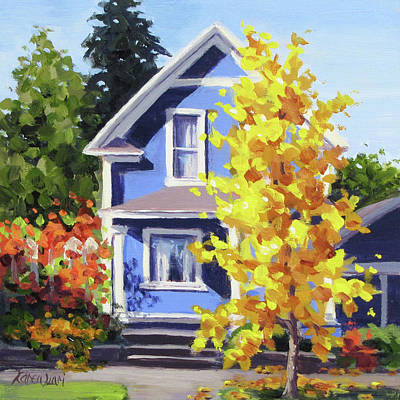 Painting - The Ginkgo Tree by Karen Ilari