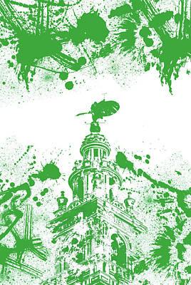 Digital Art - The Giralda - Andalusian Flag  by Andrea Mazzocchetti